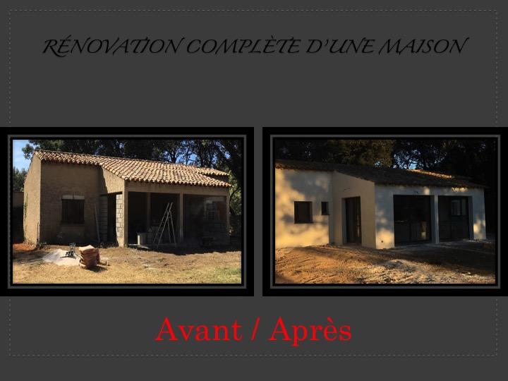 R novation d une maison avec extension et l vation d un tage istres entreprise maconnerie - Renovation d une maison ...