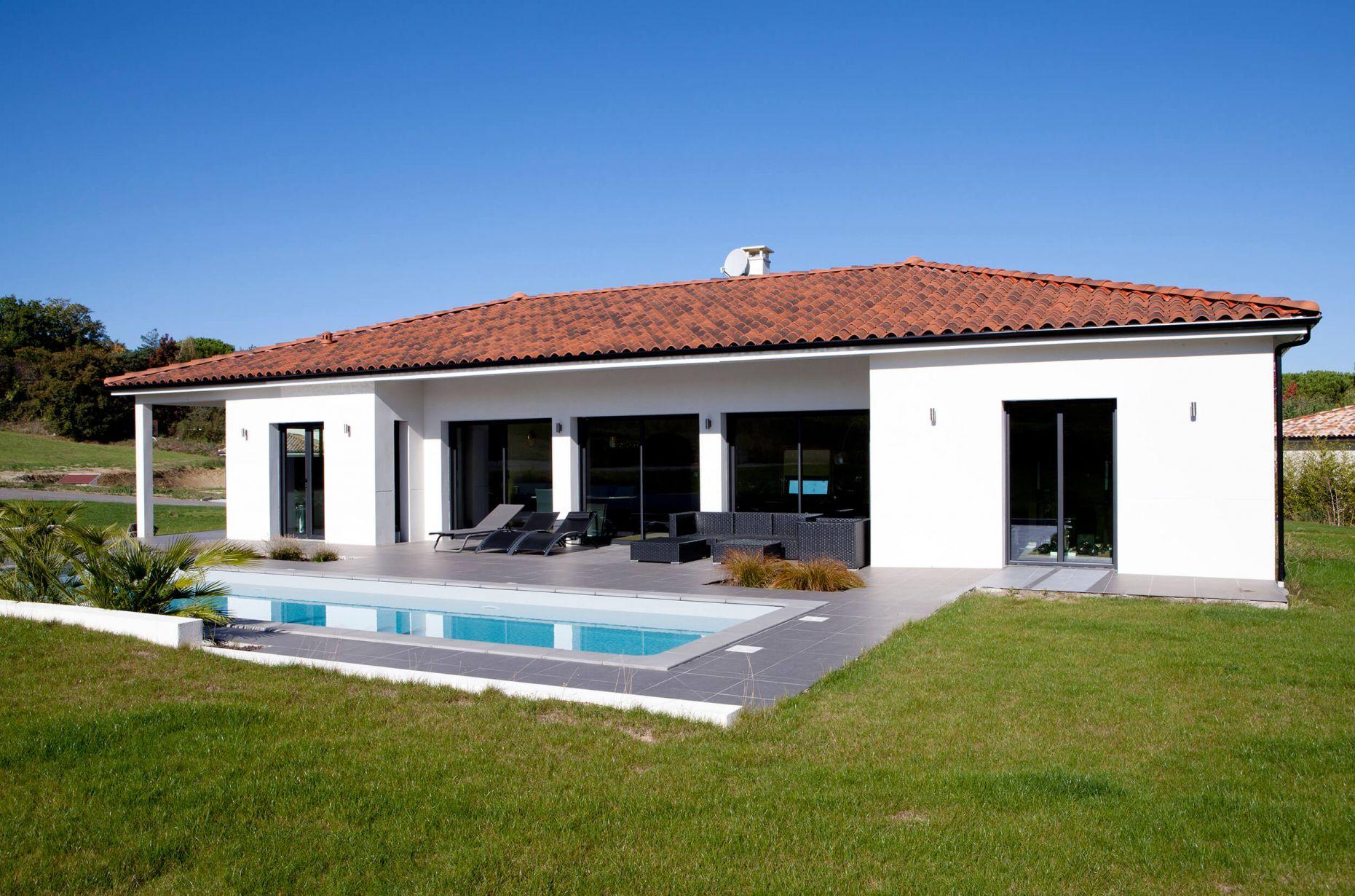 Construction d 39 une maison contemporaine r alis e aix en - Piscine plein air aix en provence ...